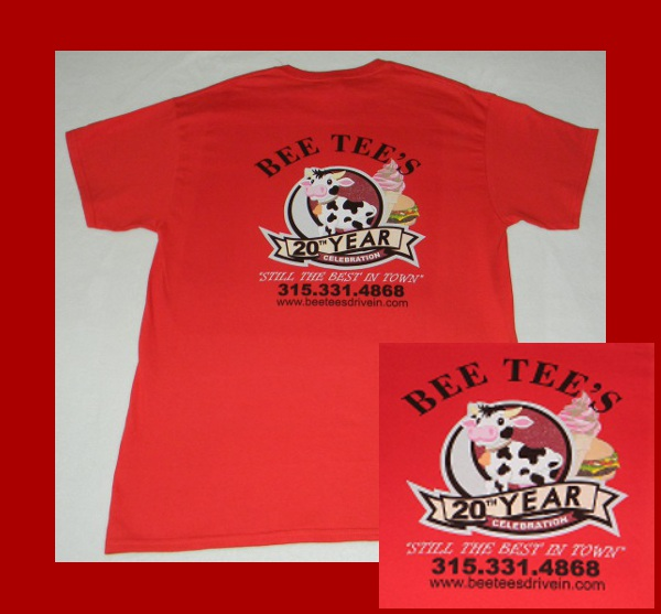 Bee Tees Drive In T-Shirt Back